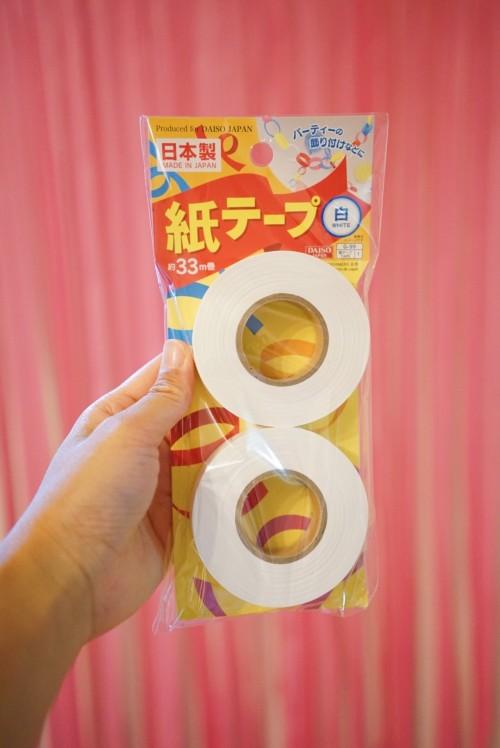 100均の紙テープ