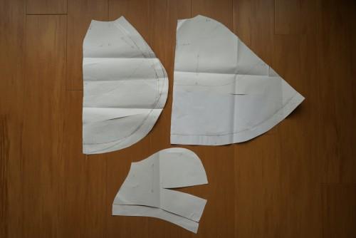 ケープの型紙