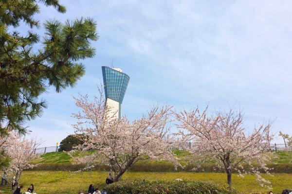 三崎公園のいわきマリンタワー