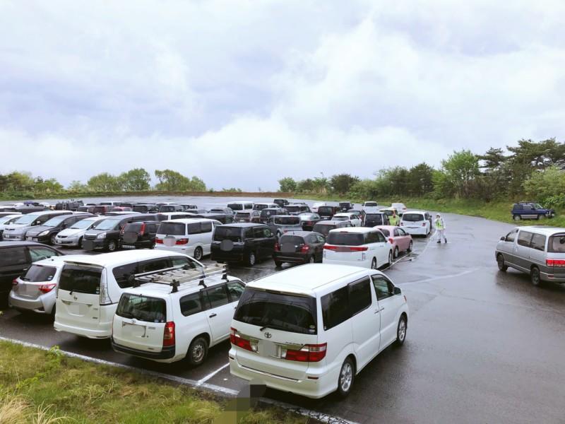 東北サファリパークの駐車場