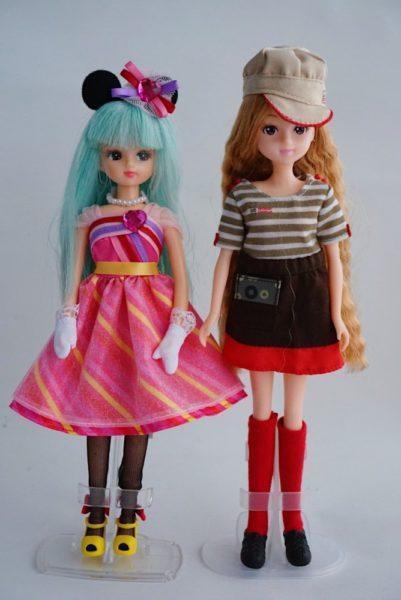 ディズニーのファッションドールとリカちゃんの服の交換