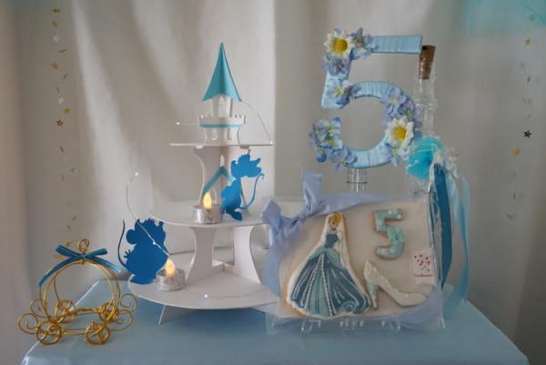 シンデレラがテーマの誕生日の飾りつけ