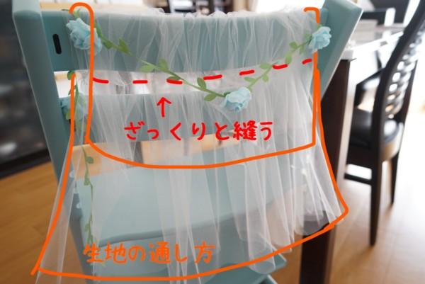 誕生日の椅子の飾りつけ作り方