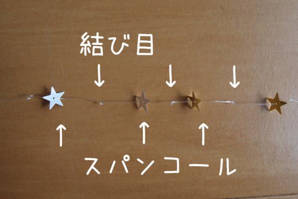 誕生日の手作り星の飾り