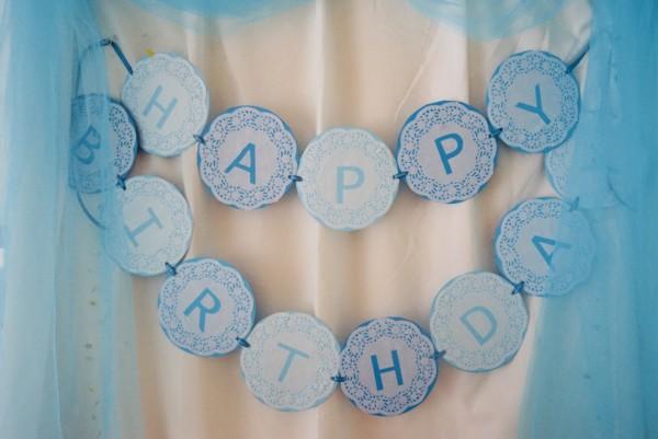 誕生日の手作りガーランド
