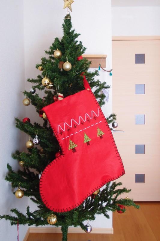 クリスマスプレゼント用の大きな靴下
