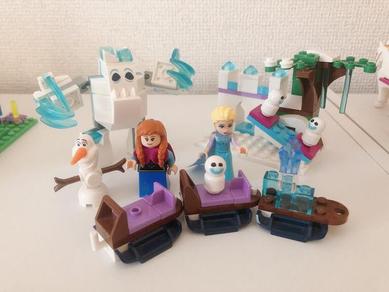 アナ雪のレゴ お城以外の部分