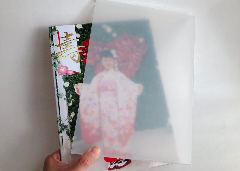 七五三の写真アルバムのレイアウト例